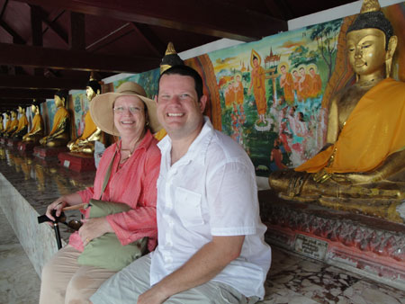 Josh and Mom at Wat Phra Maharat
