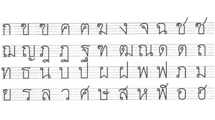 Learn thailand alphabet